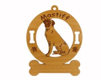 3547 Mastiff Sitting Personalized Dog Ornament
