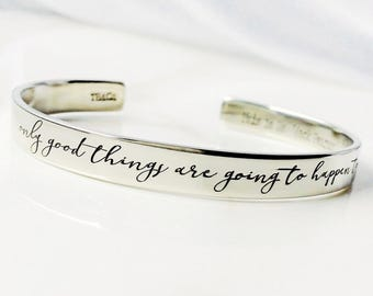 This Is Us . Only good things are going to happen today . Jack Pearson Quote . This Is Us Bracelet . #TBCO