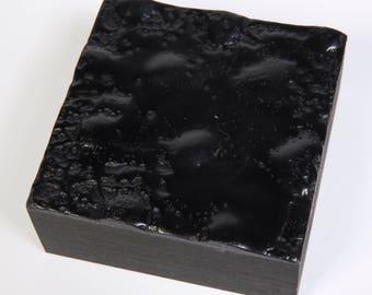 Original Mini Black Abstract Encaustic Painting