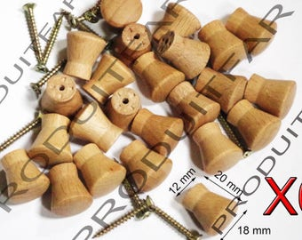 Set of 6 button handle wood filing furniture drawer furniture business record 12 mm