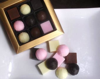 Box of Chocolates Soap - Chocolate Candy Soap, Dessert Soap, Chocolate Soap, Mother's Day Gift, Gift for Mom, Bridesmaid Gift, Teacher Gift