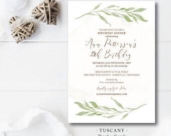 Tuscany Party Invitations
