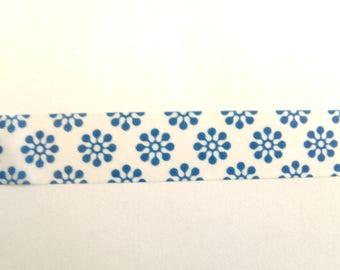 10 m Masking Tape Washi Tape tape blue flowers