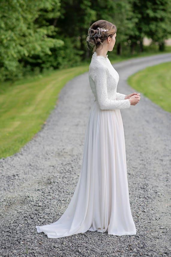 Laurel - high neck bridal top