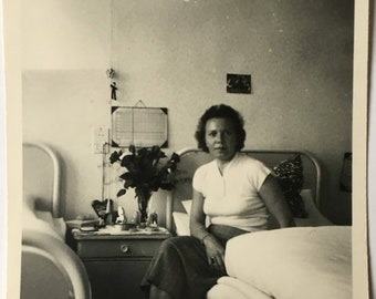 "Vintage Photo ""The Beautiful Napper"" Snapshot Antique Black & White Photograph Paper Found Ephemera Vernacular Interior Design Mood - 104"