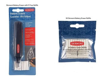 DERWENT Battery Eraser Complete With Refill Pack