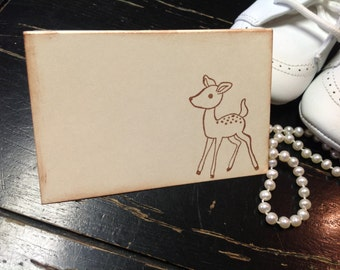 Baby Shower Placecards-Deer place cards-shower decorations-Buffet cards-Set of 12