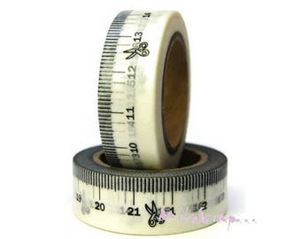 10 m meter scissors tape masking deco sticker embellishment scrapbooking (ref.410) *.