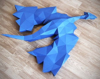 Dragon Papercraft, GOT papercraft, Gifts for Kids, Gifts for Children, Mythical Creature, Dragon, Low Poly