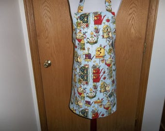 Apron Aprons for Women Bird House Apron Womens Full Apron Chefs Apron Cooking Apron Reversible Apron Pocket Adjustable Length Handmade Gift