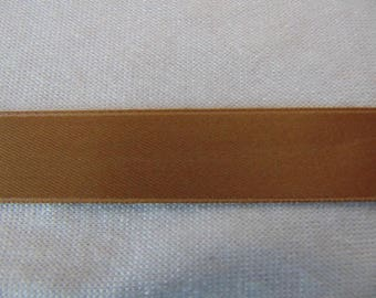 Double faced satin ribbon, sand (S-0029)