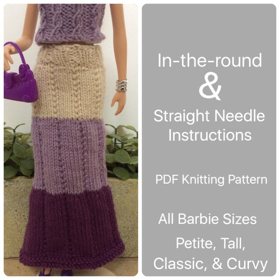 Pattern Barbie Knit Doll Clothes Easy Knitting Pattern For Maxi
