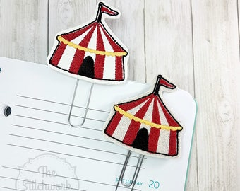 Circus Tent Planner Clip - Paperclip - Bookmark - Pick your color!