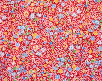 Liberty fabric Tana Lawn Kayoko- 9''x26'' Fat Eighth Red