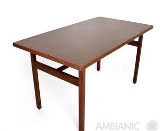Jens Risom Walnut Table Desk Midcentury Period