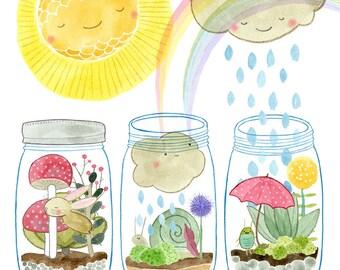 Sunshine Water Love digital giclee print