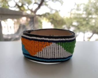 Handmade Kenyan Beaded Bracelet - Style 1