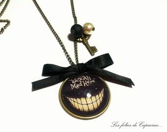 Large CABOCHON •WONDERLAND• necklace.