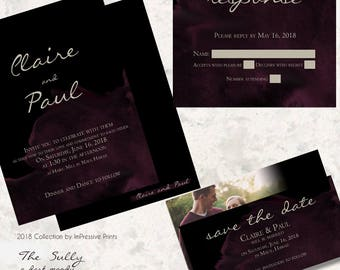 The Sully - 5x7 Wedding Invitation by ImPressive Prints