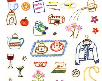 Embroider Stitch 105 and Samplers - Japanese Craft Book