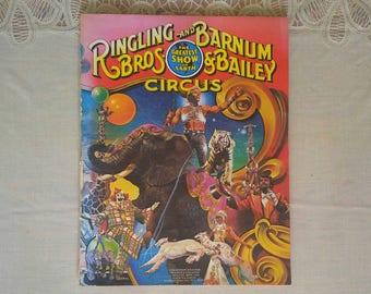 Vintage Ringling Brothers and Barnum & Bailey Circus Souvenir Program/Magazine 111th Edition 1981 Vintage Paper Ephemera Big Top Memorabilia