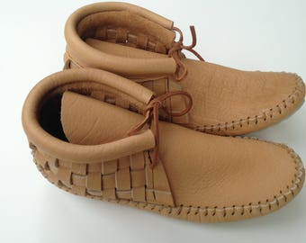 Sand Woven Adult Moccasins
