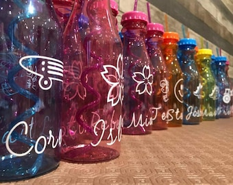 Personalised plastic milk bottles summer weddings party favours gifts