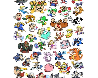 "Super Smash Bros 13x19"" Art Print"