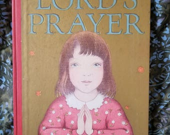 Beautiful Vintage LORD'S PRAYER Children's Hardcover 1943 - Illustrated by Ingri & Edgar Parin D'Aulaire