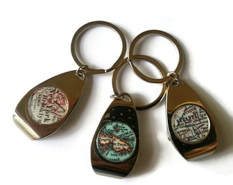 Gift for Boyfriend, Dad Keychain Bottle Openers Bottle opener keychain, Personalized Birthday gift, Custom boyfriend gift,for Him