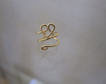 Heart Cuff- gold plated or silver plated