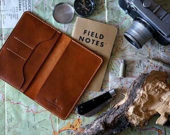 Field notes leather cover hand-stitched