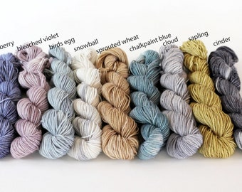 Mini Skeins, Peyton Sock, DK weight, Sparkle Sock (silver)