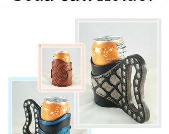 PATTERN - Soda Can Holder - pattern for leather - leathercraft - PDF pattern ONLY