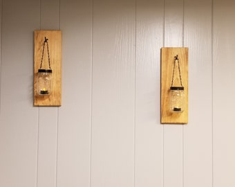 Mason Jar Hanging Tea Lights