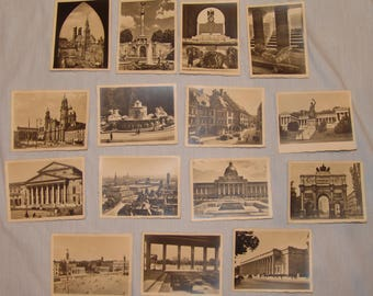 Vtg Souvenir Photograph Cards Lot German Germany Black White Picture 15 pcs