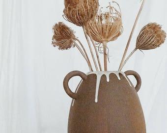 Handle Pod Vase Stoneware MADE TO ORDER