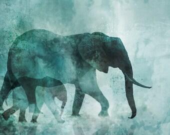 Elephant Walk 01: Giclee Fine Art Print 13X19