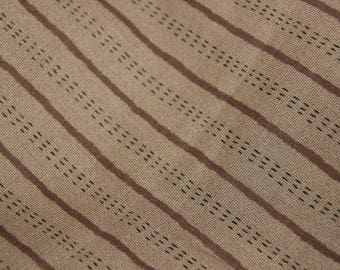 Striped patchwork fabric