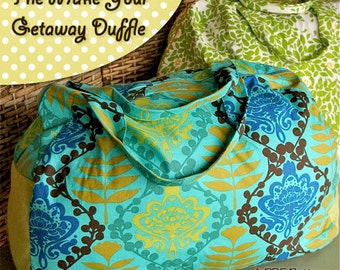 Make Your Get Away Duffle Luggage Bag PDF Pattern Ebook Adult and Child Size