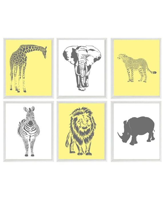 Safari Nursery Wall Art Baby Boy Nursery Neutral Nursery