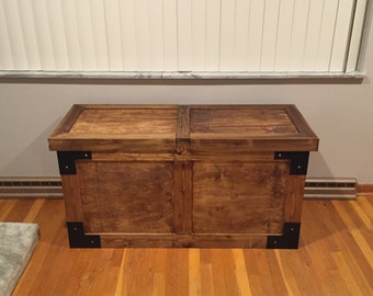 Rustic Buffet Table with Sliding top