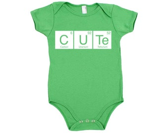 Periodic table baby etsy cute periodic table cotton baby one piece bodysuit infant girl and boy urtaz Images