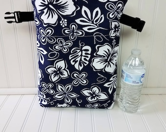 Lunch Bag - Hibiscus Bag - Floral - Lunch Bag for Women - Hibiscus Lunch Bag - Lunch Bag Insulated - Lunch Bag Tote - Roll Top Lunch Bag