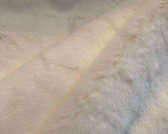 Tissavel Santa Fe Fur Faux Fur in Off White from Shannon Fabrics