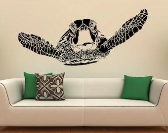 Sea Turtle Wall Decal Vinyl Stickers Sea Animals Home Interior Design Art Murals Bedroom Decor (7t01le)