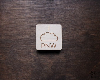 "I (Cloud) PNW ""Pacific Northwest"" Magnet 