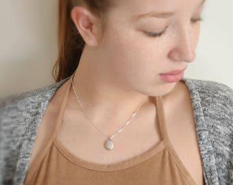 Silver locket, Mini locket, Oval locket, Small picture locket necklace, Memory locket, Bridesmaid gift, Dainty silver necklace