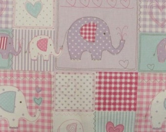 Fryetts Fabric - Bo Bo   -  Pink  Sold per l metre  perfect Stock -Great for Curtains/crafts 100% Cotton