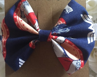 Wonder Woman Fabric Bow